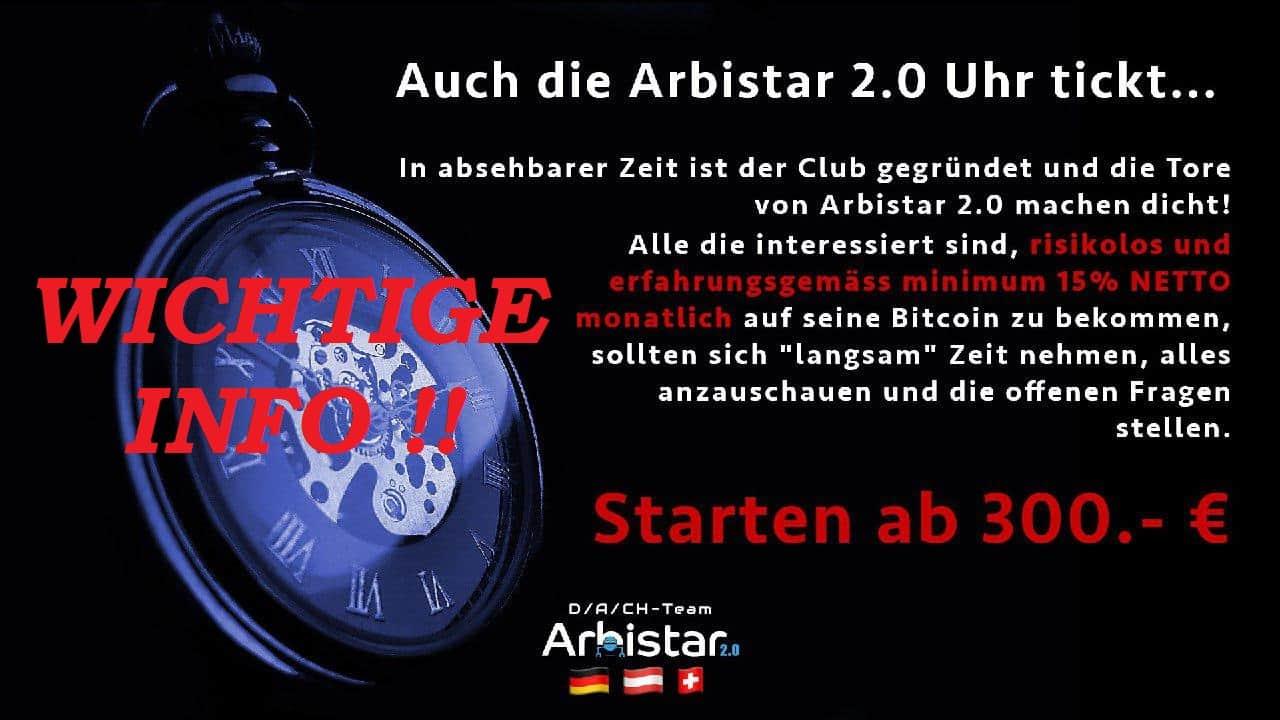 Arbistar 2.0 Wichtige Info