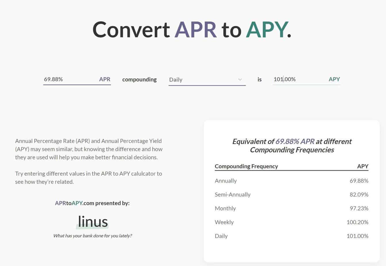 Unterschied zwischen APY und APR